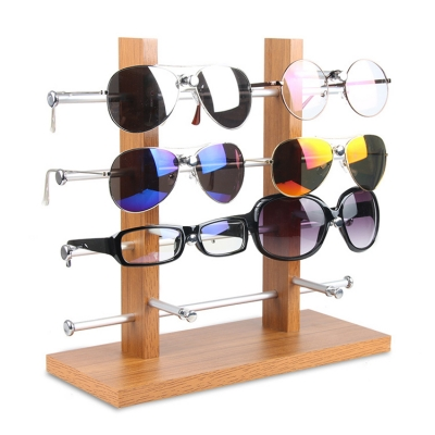 Wooden Desktop Glasses Display Stand